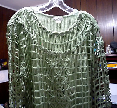 Genre Green Knit Sexy Cut Out Sleeve and Over Lay on Top Must Look