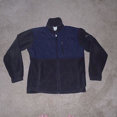 Columbia Navy Blue & Black Fleece Jacket Men's Medium