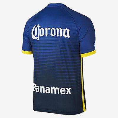 NIKE CLUB AMERICA AWAY JERSEY 2015/16 MEXICO Gym Blue/Armory Navy/Tour Yellow