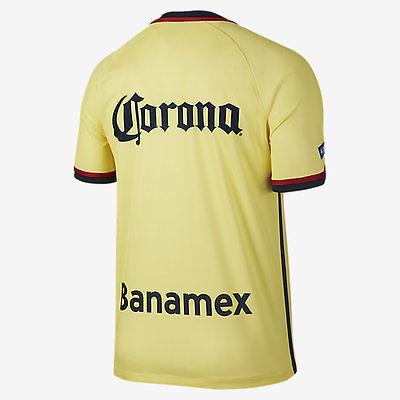 NIKE CLUB AMERICA HOME JERSEY 2015/16 MEXICO Lemon Chiffon/Armory Navy/Armory Na