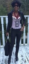 Custom Designer Classy Couture black Genuine snakeskin Coat Jacket XS-S 0- 2 - $1,299.99