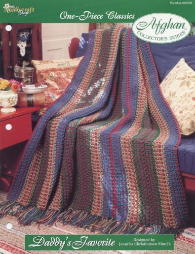 Daddy's Favorite One-Piece Afghan TNS Crochet Pattern/Instructions Leaflet NEW