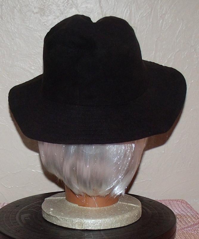 Unisex Floppy Suede Hat Black
