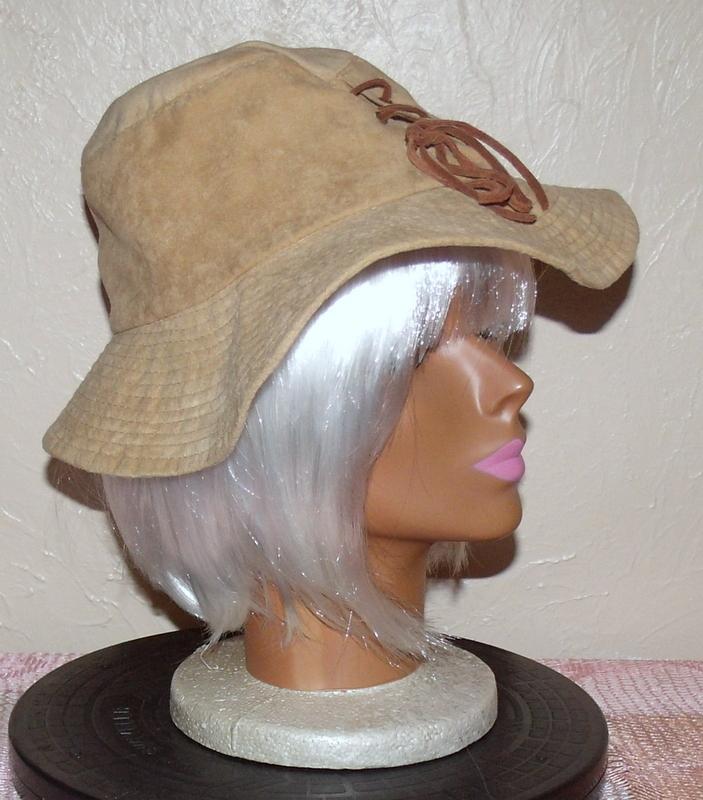 Unisex Floppy Suede Hat Khaki