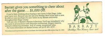 1989 Holiday Bowl Ticket Stub BYU PENN STATE