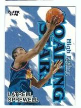 Latrell Sprewell 1997-98 Fleer High Flying Soaring Stars #17 Warriors - $4.99