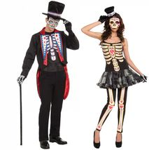 Costume - Couple - Day of the Dead - Día de Muertos - Set of 2 - Mens & ... - $58.94