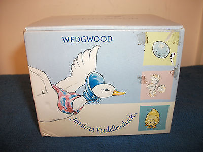 WEDGWOOD JEMIMA PUDDLE-DUCK BANK COINS MONEY PIGGY BABY NURSERY CUTE NEW IN BOX
