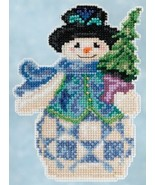 Evergreen Snowman 2015 Winter Series cross stitch kit Jim Shore Mill Hill - $7.65