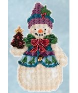 Pinecone Snowman 2015 Winter Series cross stitch kit Jim Shore Mill Hill - $7.65