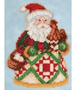 Early Morning Santa 2015 Winter Series cross stitch kit Jim Shore Mill Hill - $7.65