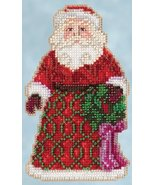 Greetings Santa 2015 Winter Series cross stitch kit Jim Shore Mill Hill - $7.65
