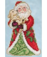 Best Friend Santa 2015 Winter Series cross stitch kit Jim Shore Mill Hill - $7.65