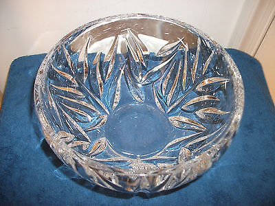 GORHAM CRYSTAL GLASS BOWL STAR BLOSSOM BEAUTIFUL