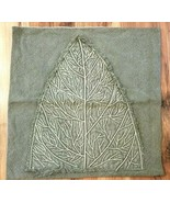 Pottery Barn Sarita Handa DESIGNER Pillow Cover SAGE GREEN LEAF 24x24 NW... - $49.99