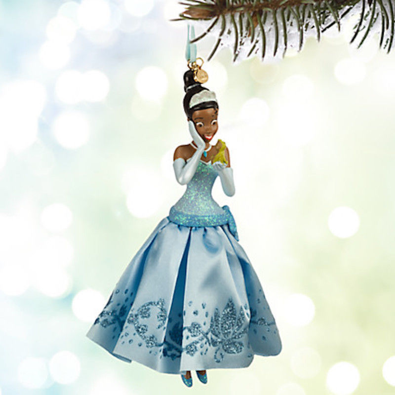 Disney Store Tiana and Frog Naveen Sketchbook Christmas Ornament Brand New 2015.