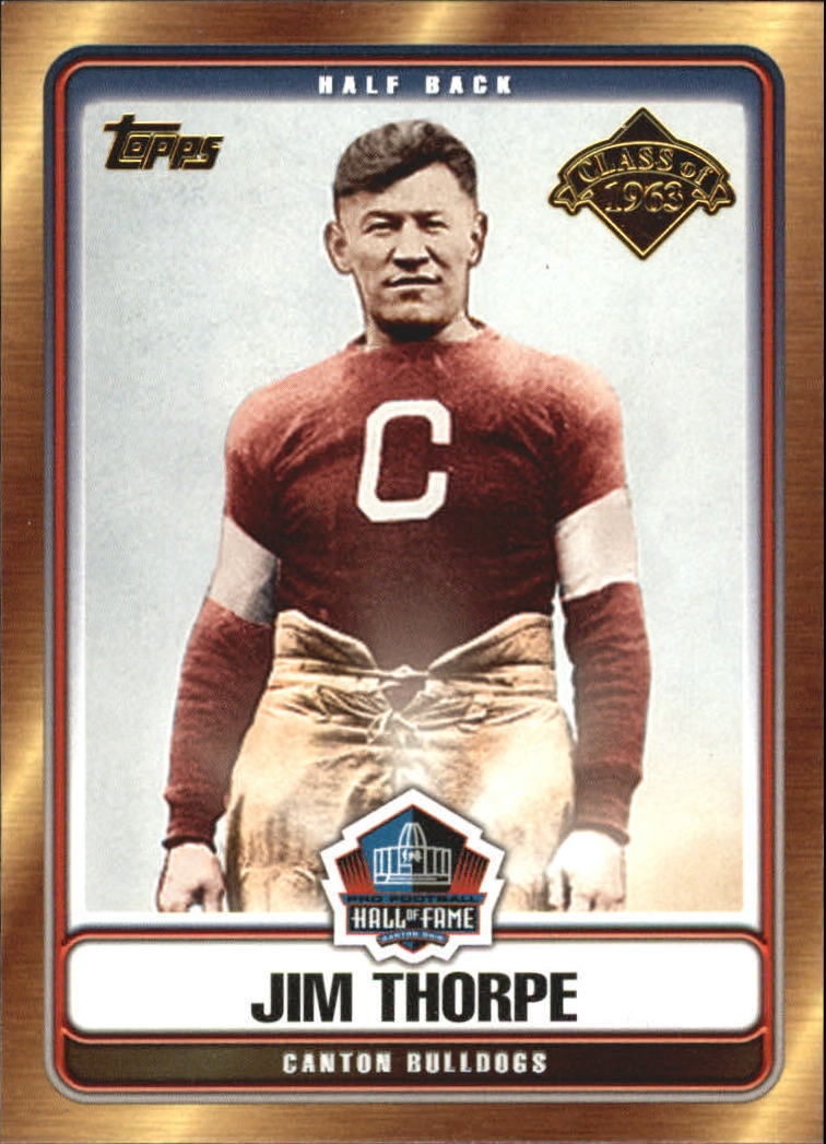 2006 Topps Hall of Fame Tribute JIM THORPE -Canton Bulldogs-Hall Of Fame-