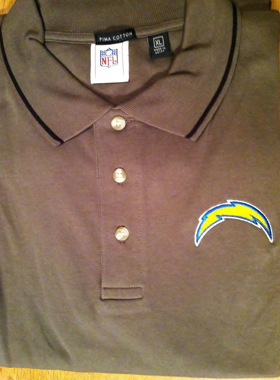 NEW! Mens San Diego Chargers Dunbrooke Moss Green Polo Shirt XL