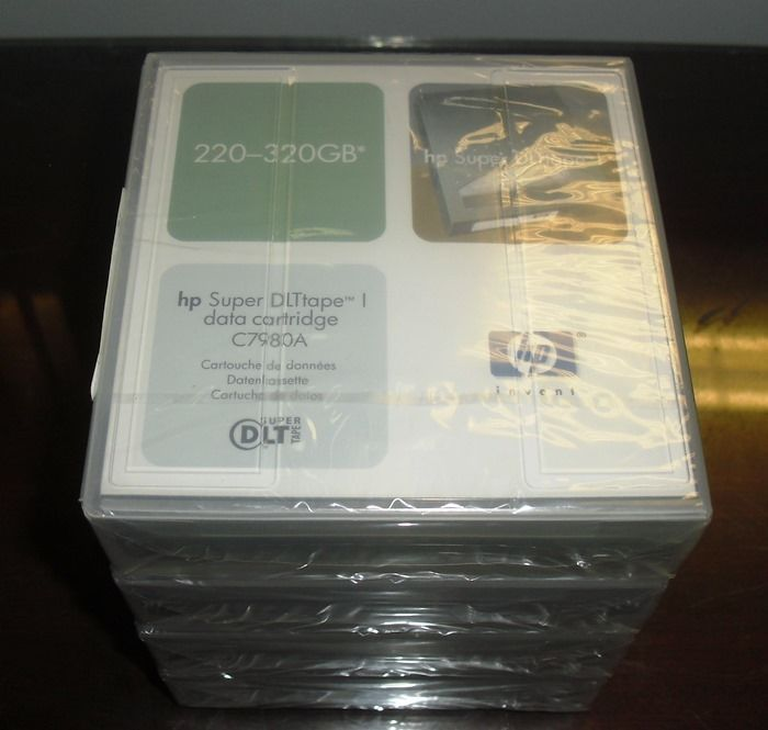 LOT OF 5 NEW SEALED HP SUPER DLTtape I DATA CARTRIDGE C7980A