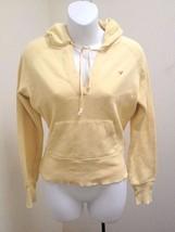 American Eagle XS Hoodie Sweatshirt Yellow Pullover - $11.75