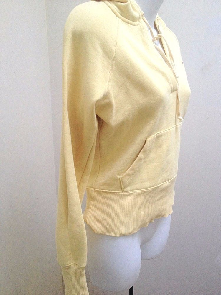 American Eagle XS Hoodie Sweatshirt Yellow Pullover