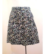 Ann Taylor Loft 6 Skirt Purple Aqua Geometric Animal Print A Line Tiered... - $16.64