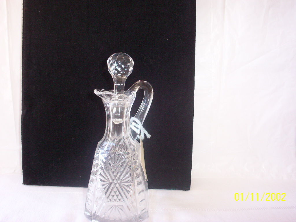 Vintage Keystone Pattern Glass Cruet