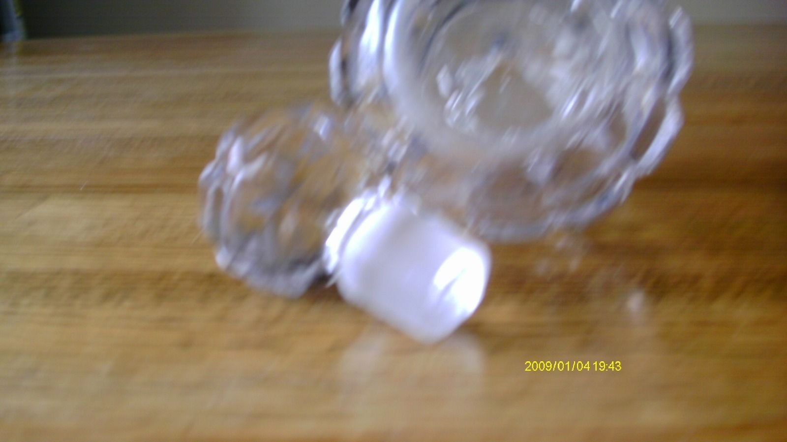 Vintage Crystal Block Pattern Perfume Bottle