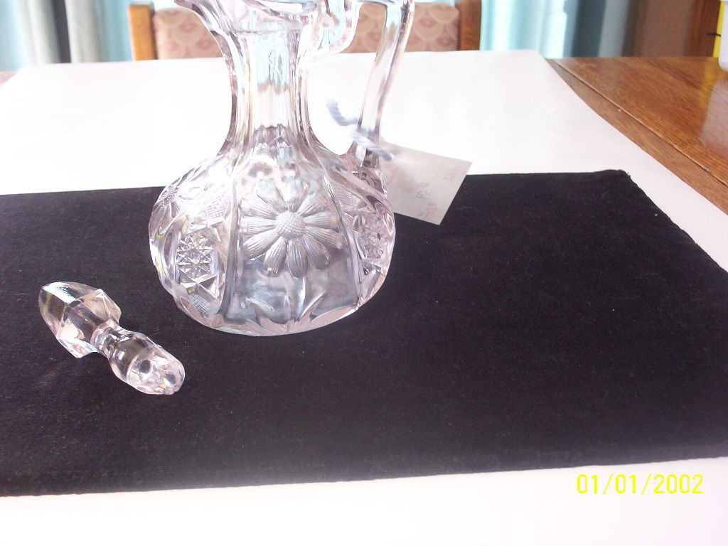Cambridge Glass Red Sunflower Pattern Glass Cruet