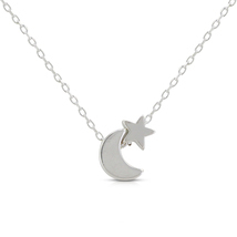 316L Stainless Steel Baby Moon & Star Necklace Pendant For Women's - $18.00