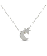 316L Stainless Steel Baby Moon & Star Necklace Pendant For Women's - €15,23 EUR