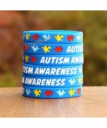 100 Autism Awareness Wristbands - Adult and Child Size Bracelets Availab... - $49.88