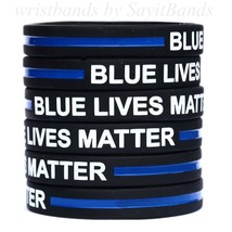 50 Blue Lives Matter Wristbands for Police Officers Patrol Awareness Support New - $29.99