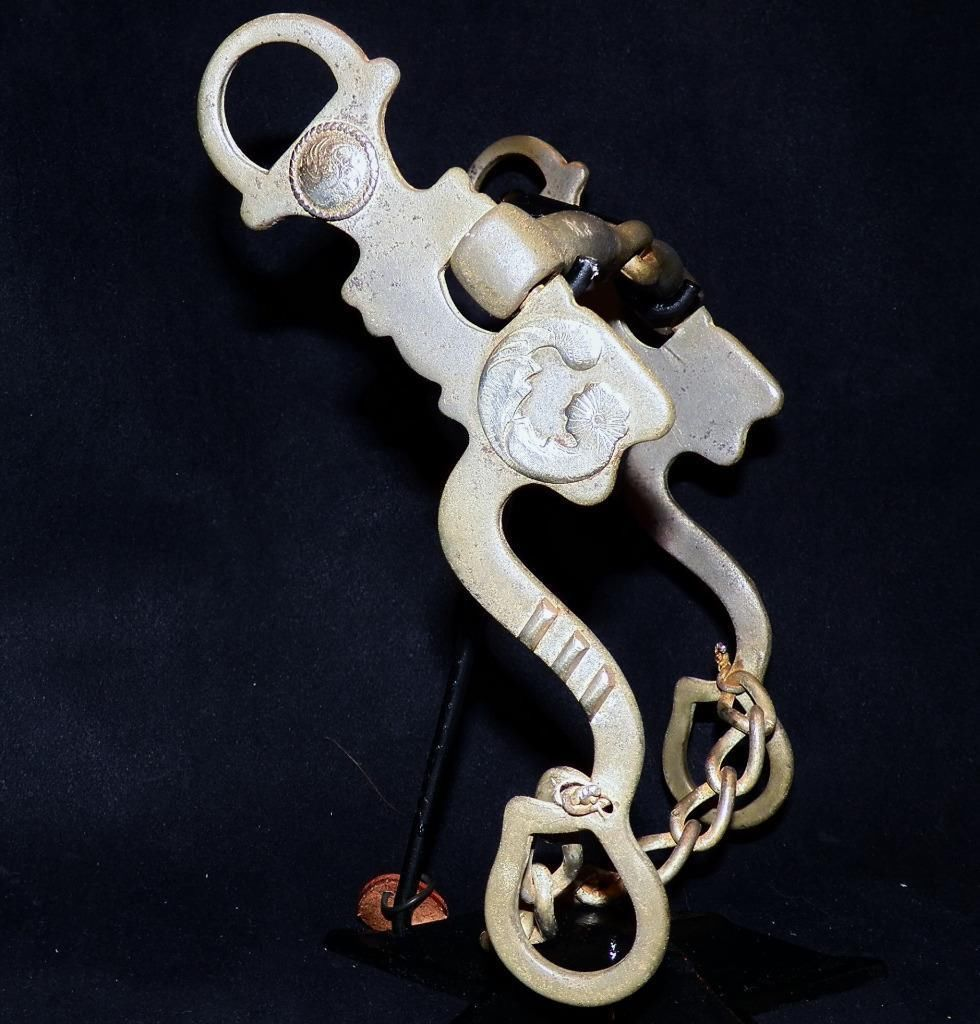 Vintage German Silver Signed Kurtis Rudelbach Loose Cheek Sweet Iron Snaffle Bit