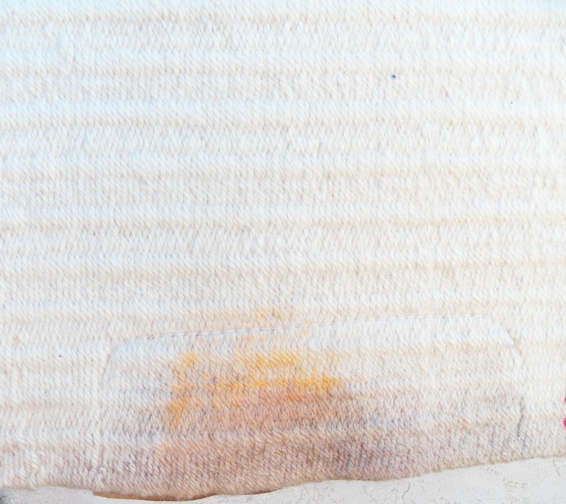 Golden West Lori Heckaman Red Cream Tan Metallic Gold Saddle Blanket Pad 32 x 38
