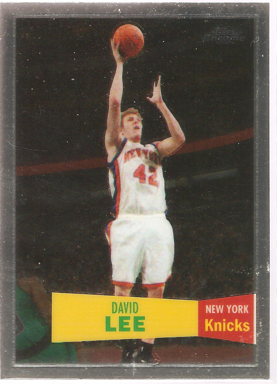 David Lee Topps Chrome 07-08 #42 Variation 57-58 New York Knicks Golden State