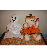 Ty Attic Treasures Carver Pumpkin And Beanie Baby Sheets - $11.99