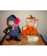 Ty Attic Treasures Carver Pumpkin And Beanie Baby Scary Witch - $14.99