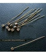Design Spilli con Testa Placcato Bronzo Cubetti Base 10 Pz 5.1cm 50mm lungo - $1.95