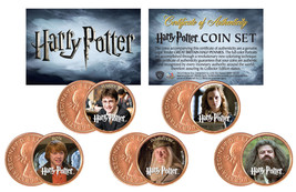 "Rare Harry Potter ""Heroes"" Great Britian Uk Half Pennies 5 Coin Set! W/H Coa! - $24.99"