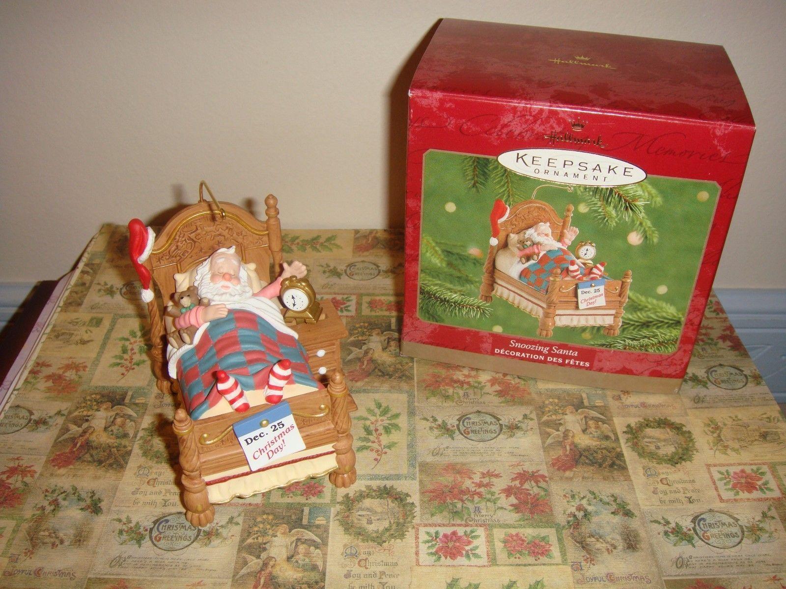 Hallmark 2001 Snoozing Santa Ornament