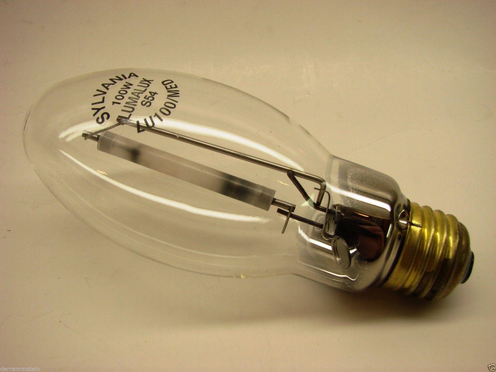 Sylvania Lumalux 100W LU100/MED S54 HPS Light Bulbs - LOT OF (4)             b12