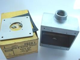 "Hubbell FD20-1 FD Pin & Sleeve Device Back Box 1"" Hubs 2-1/2"" Deep 48 CU... - $14.85"