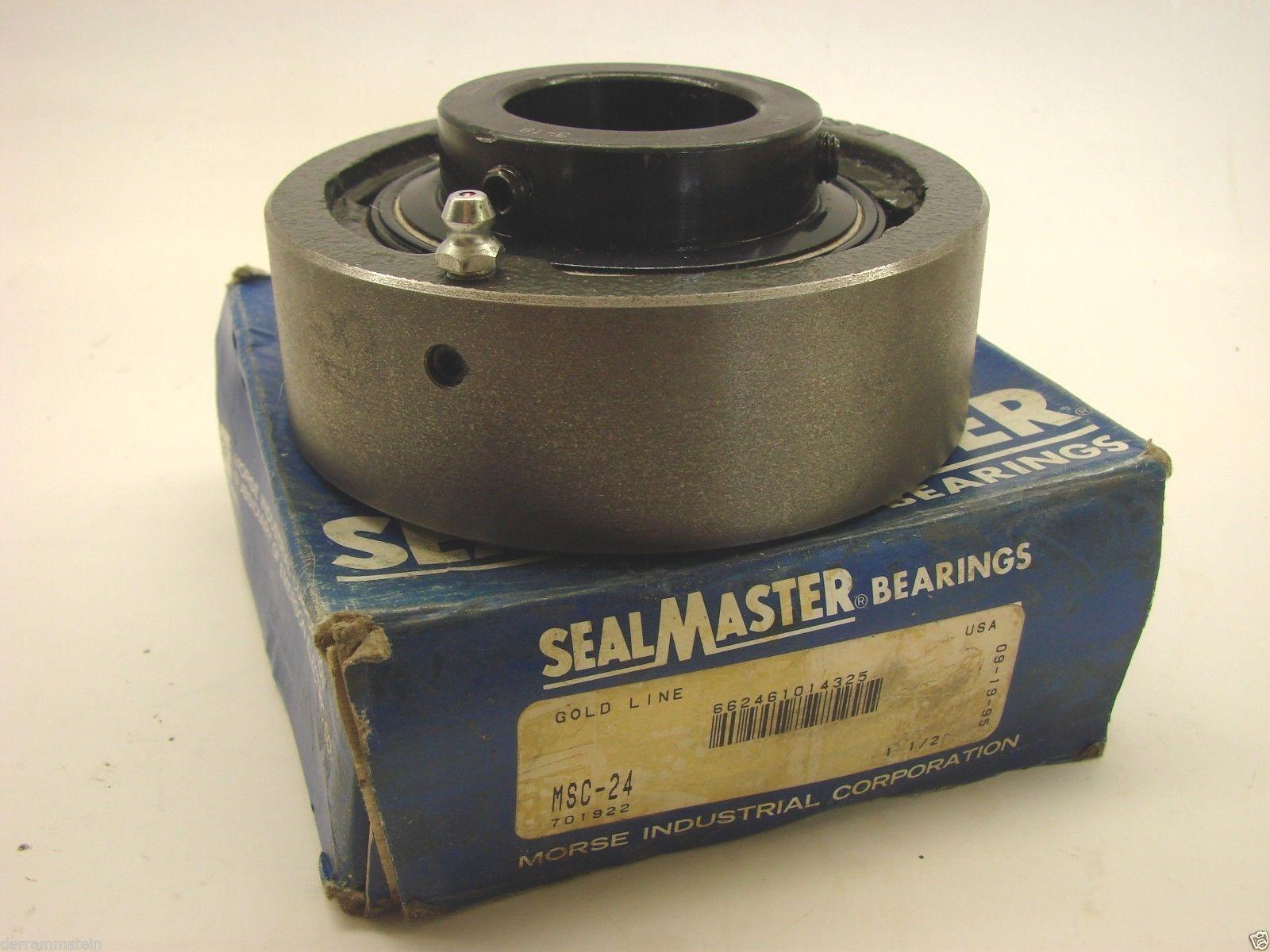 "Sealmaster MSC-24 Ball Bearing Cartridge Unit 1-1/2"" Bore 4-3/8"" OD 1-15/16"" y60"