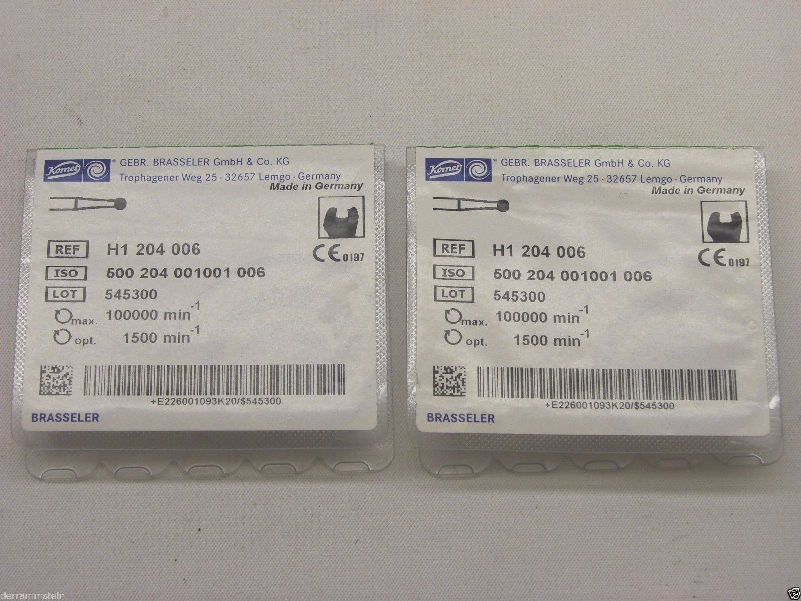 (10) Brasseler H1 204 006 Round Burs Made In Germany  f4
