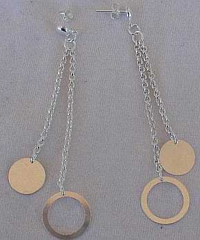 Silver rounds earrings