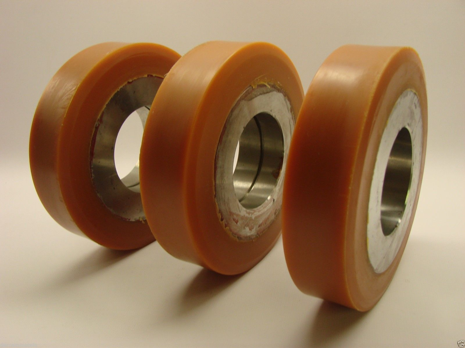 """(3) YALE Forklift 277208800 Poly Guide Wheels 5-7/8"""" X 1-5/8"""" X 2-2/5"""""""