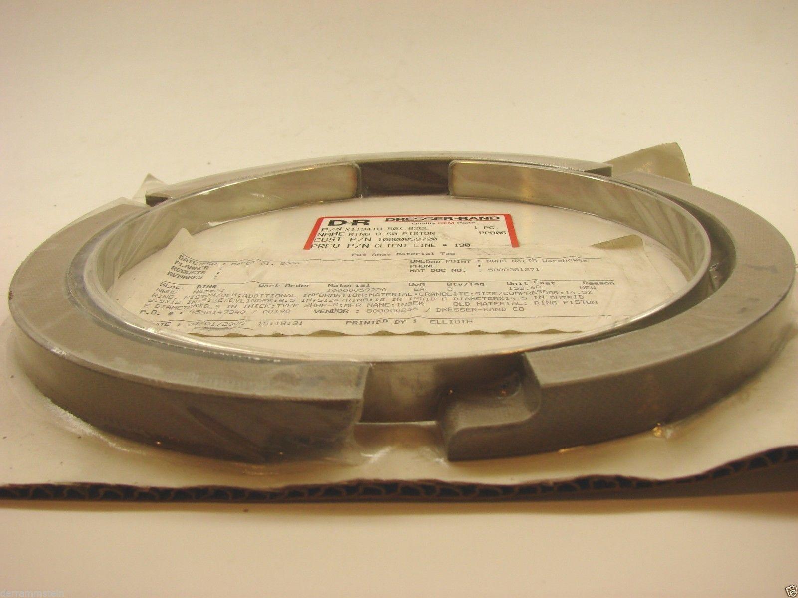 New (2) Dresser Rand X1194T 8.50 X .62CL  Piston Ring OEM Ring #1 & #2  b74