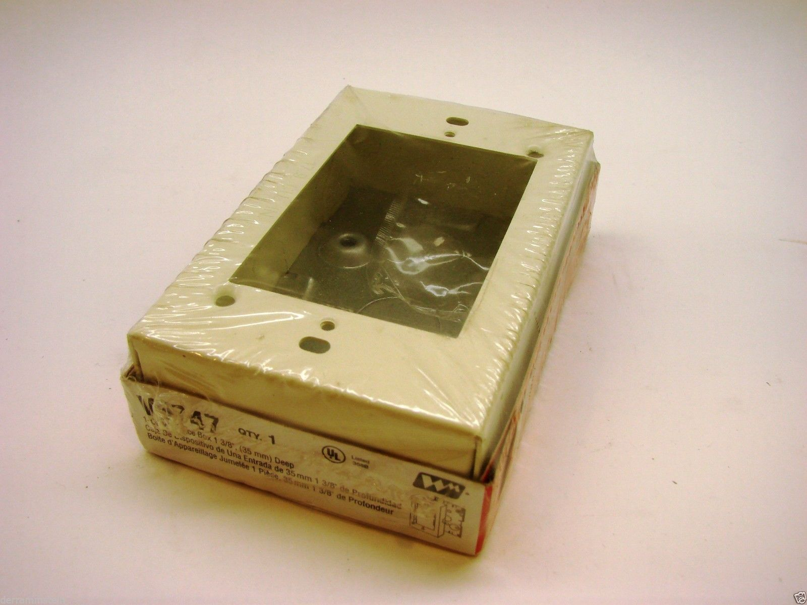 WIREMOLD V5747 Raceway Single Gang Device Box New f3