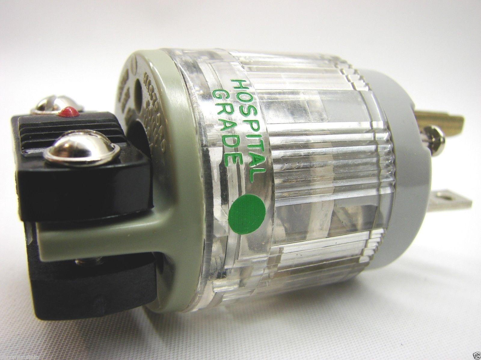 Arrow-Hart 6766-HG Hospital Grade Plugs 125V 20A 2P/2W Clear NEMA 5-20P t12